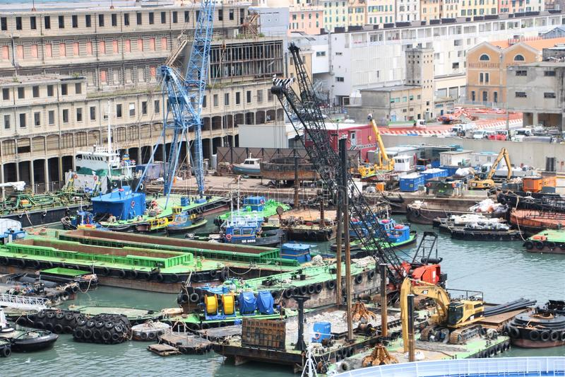Port de Gênes, Italie photographie stock