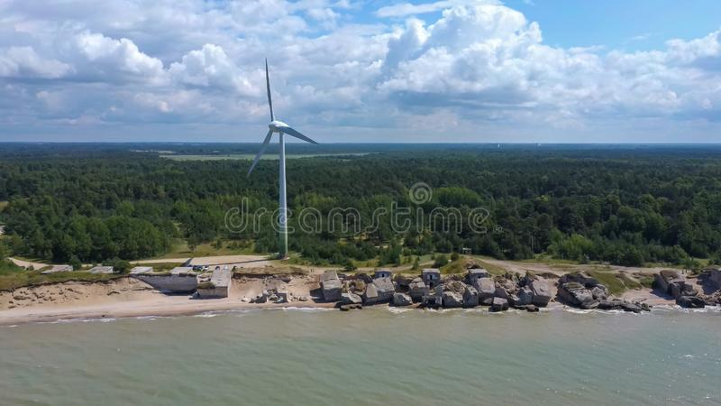 Port de guerre de Liepaja, Pôle Nord de la Lettonie, Ancien Forêt Mer Baltique images libres de droits