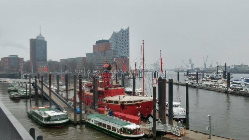 Port de Hambourg image libre de droits