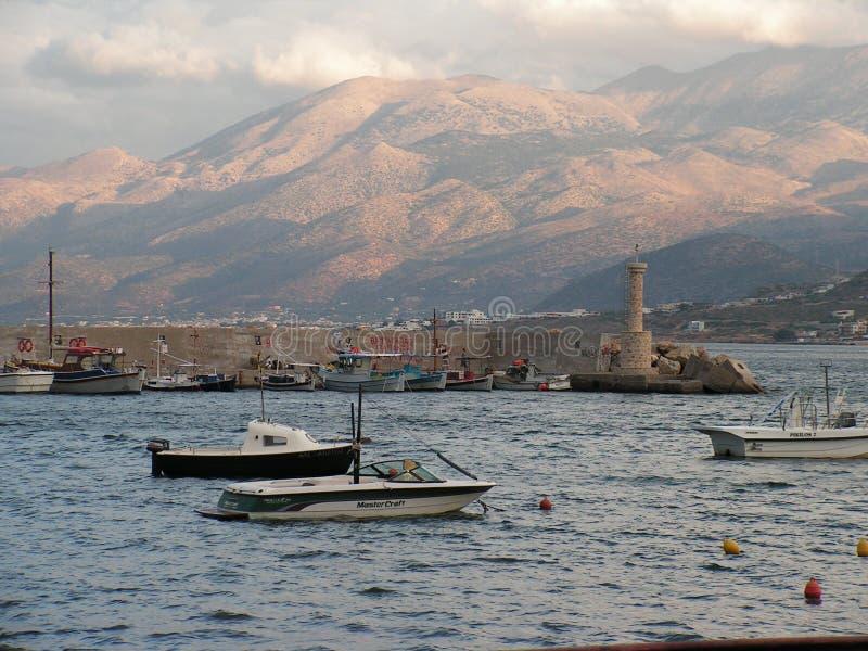 Port de Hersonissos photographie stock libre de droits