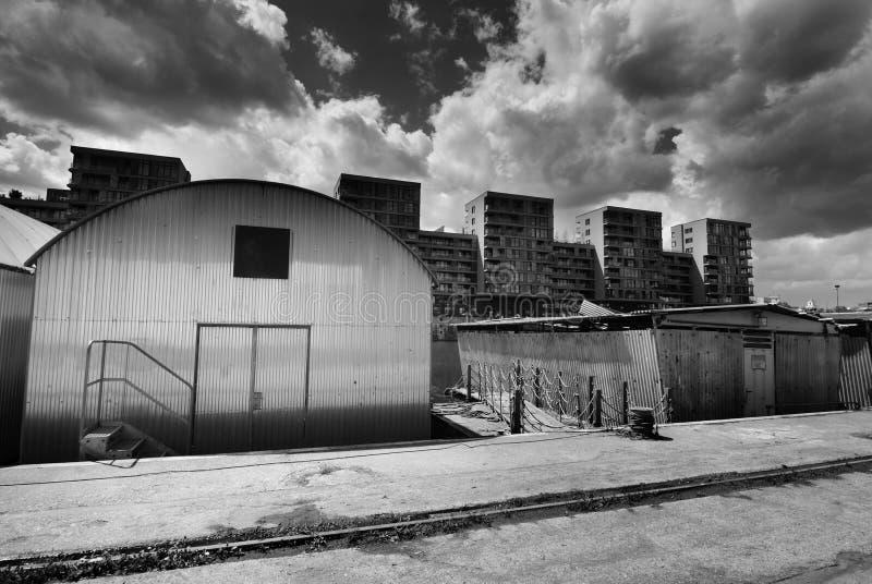 Port de Holesovice, Prague photo stock