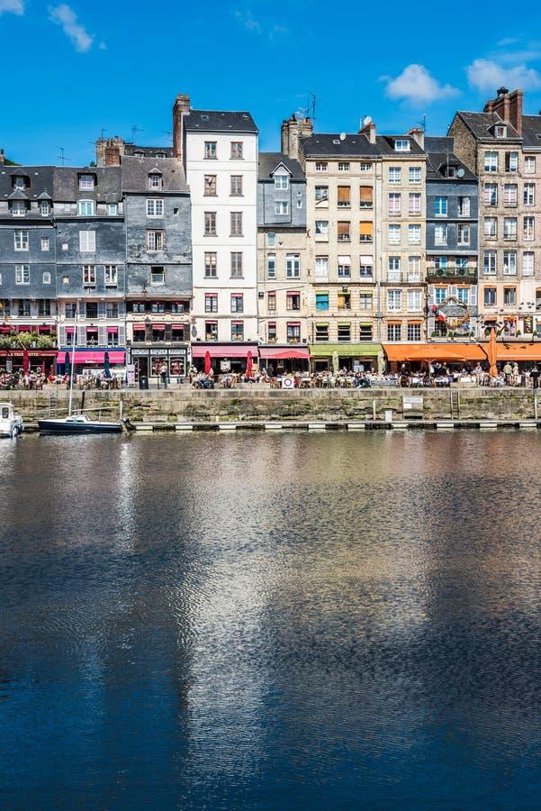 Port de Honfleur en Normandie, France photographie stock libre de droits