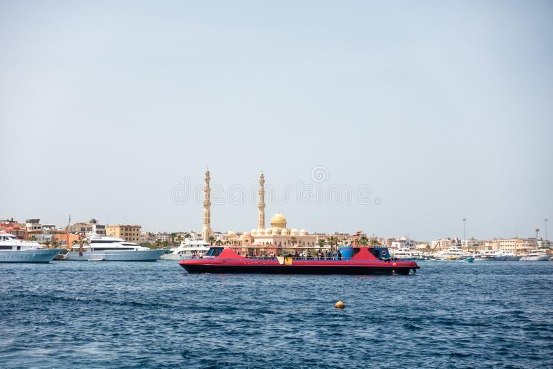 Port de Hurghada en Egypte image libre de droits