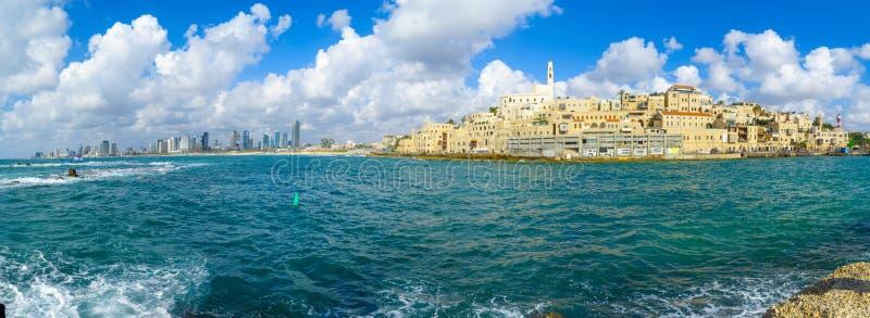 Port de Jaffa et de la vieille ville de Jaffa photo libre de droits