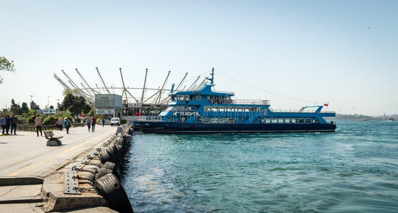Port de Kadikoy à Istanbul, Turquie photo stock