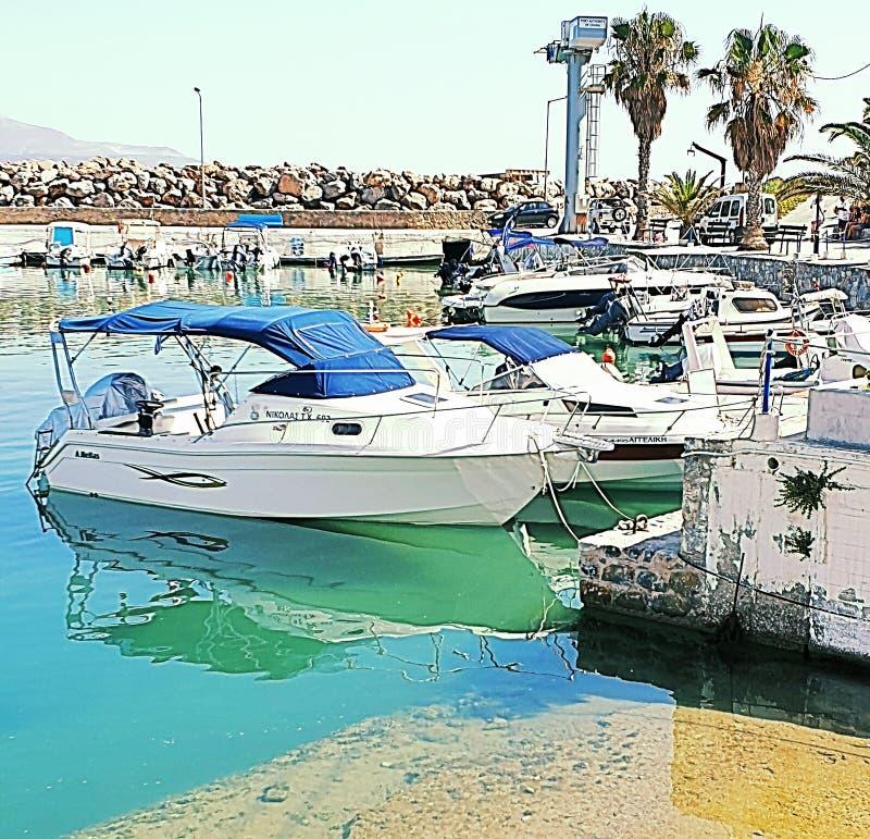 Port de Kalyves image stock