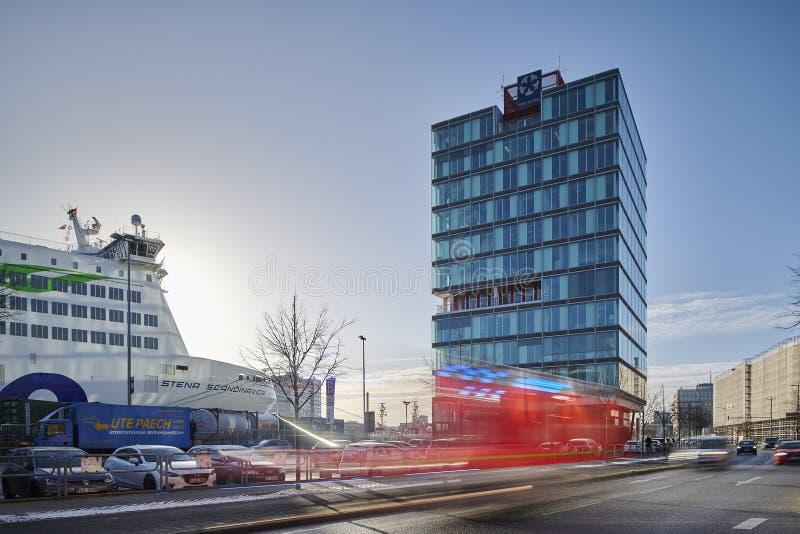 Port de Kiel Building à Kiel photographie stock