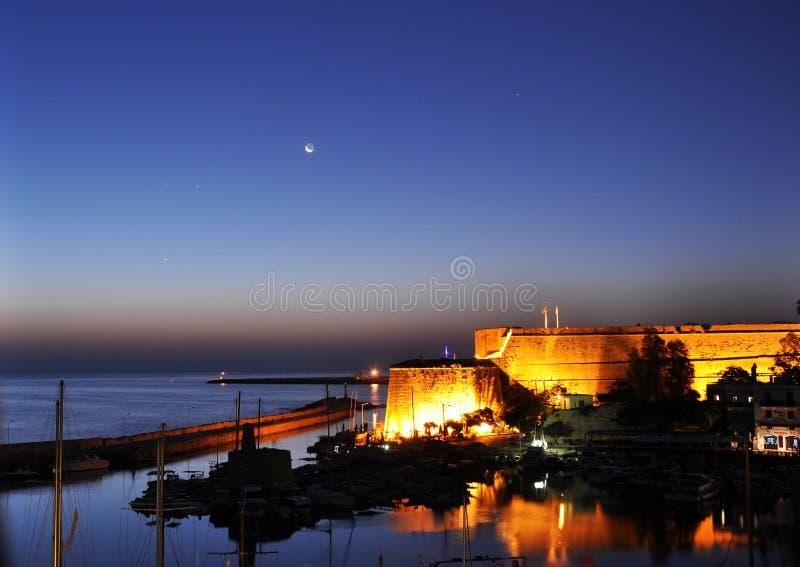Port de Kyrenia, Chypre du nord photographie stock libre de droits