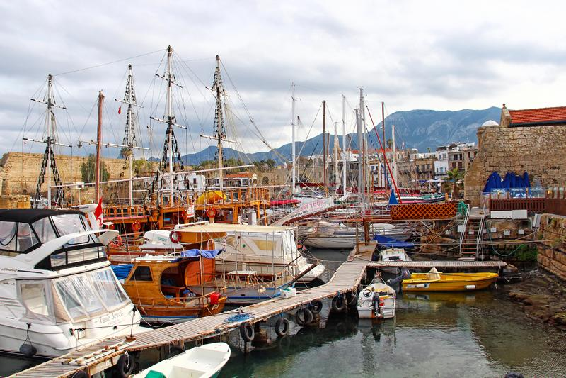 Port de Kyrenia, Chypre du nord photo libre de droits