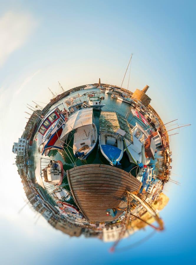 Port de Kyrenia cyprus photo stock