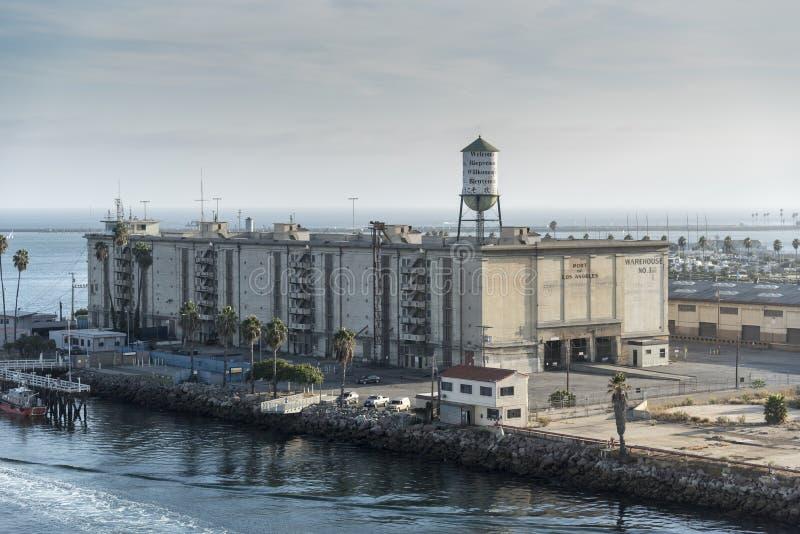 Port de l'entrepôt un de Los Angeles San Pedro photos stock