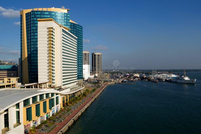 Port - de - l'Espagne chez le Trinidad images stock