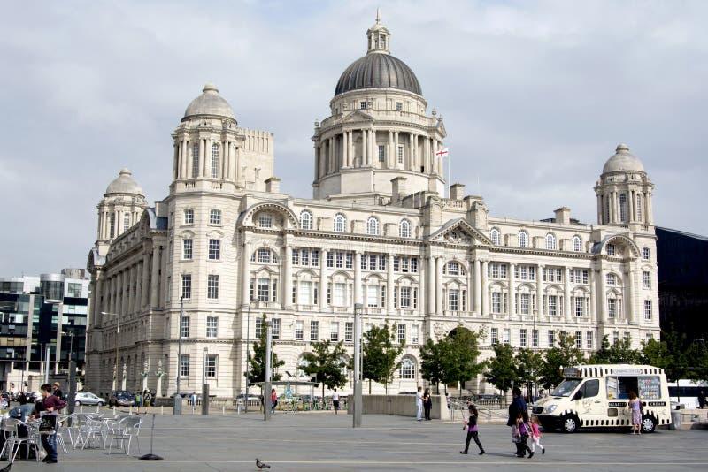 Port de la construction de Liverpool photo libre de droits