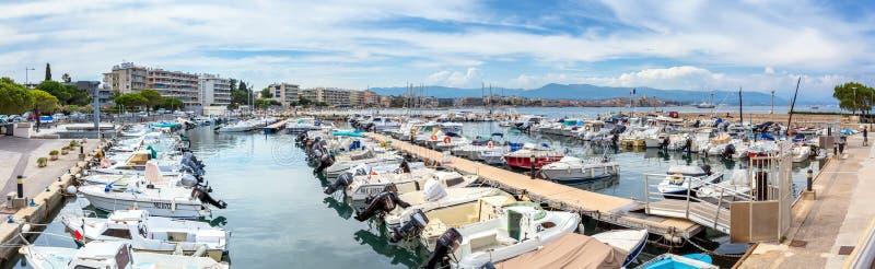 Port de la Salis Marina在安地比斯,法国 库存图片
