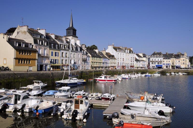 Port de Le Palais à la belle Ile en France photos stock