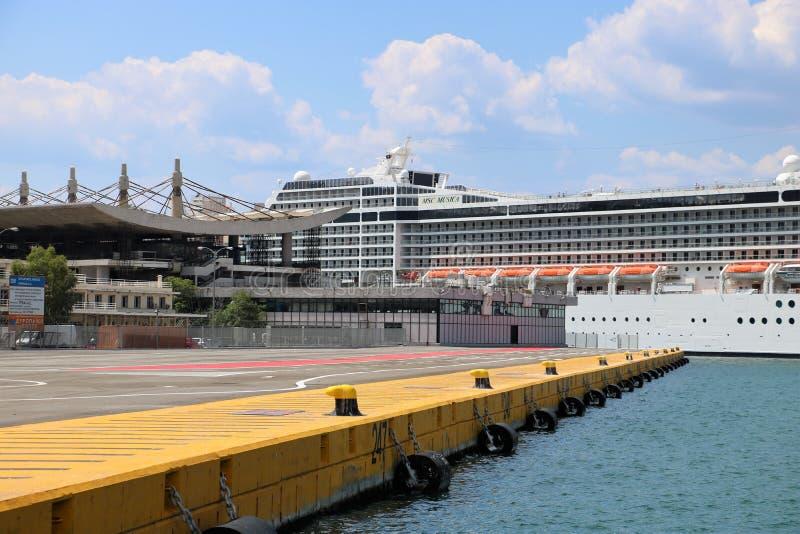 Port de Le Pirée photographie stock libre de droits