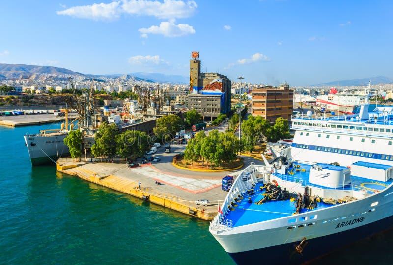 Port de Le Pirée, Athènes, Grèce photos libres de droits