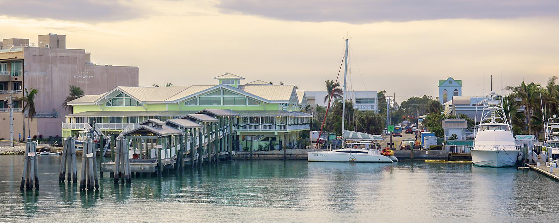 Port de liberté de yankee à la marina de Key West photo stock