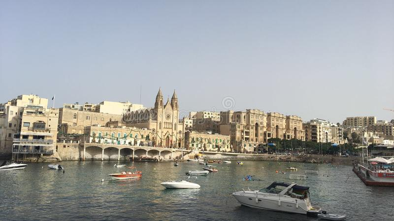 Port de Malte de malte julien de San image stock