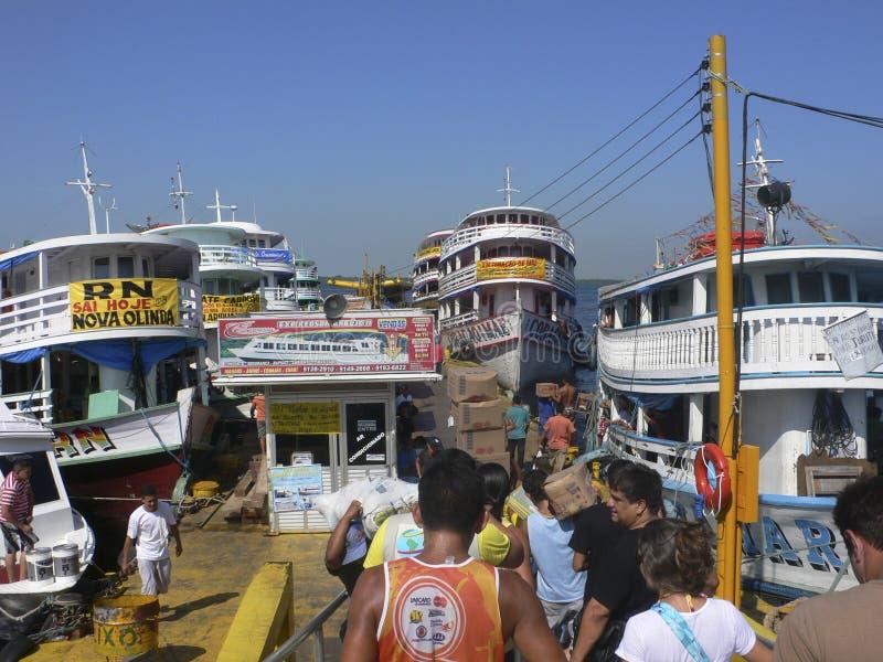 Port de Manaus photographie stock libre de droits
