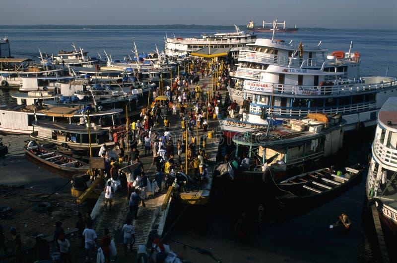 . Port de MANAUS. LE BRÉSIL photographie stock