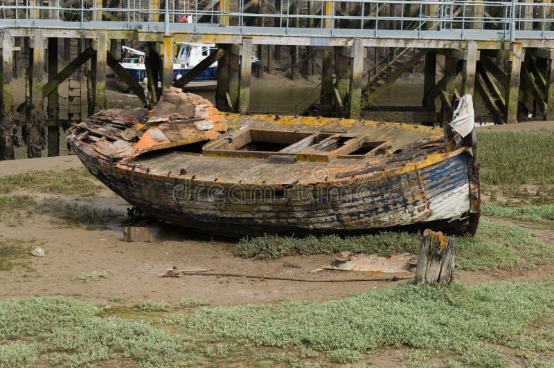 Port de marée basse images libres de droits