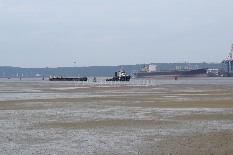 Port de marée basse image libre de droits