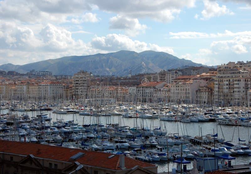 Port de Marseille, France photographie stock libre de droits