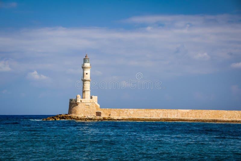 Port de mer dans Chania, île de Crète photo stock