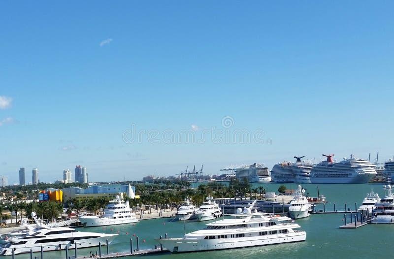Port de Miami photographie stock libre de droits