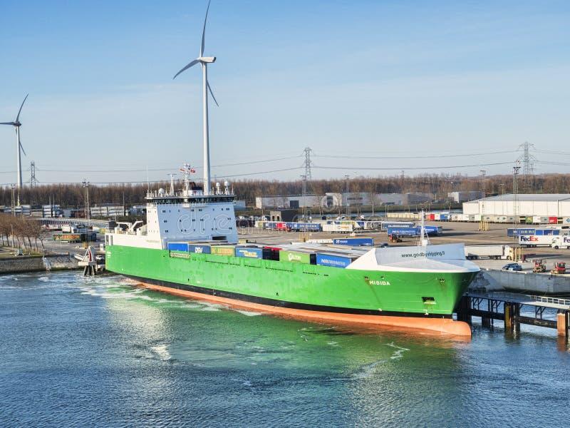 Port de Misida de cargo de roulier de Rotterdam photo stock