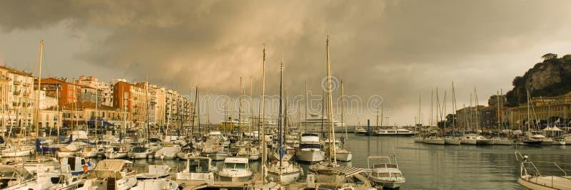 Port de Nice après la tempête image stock