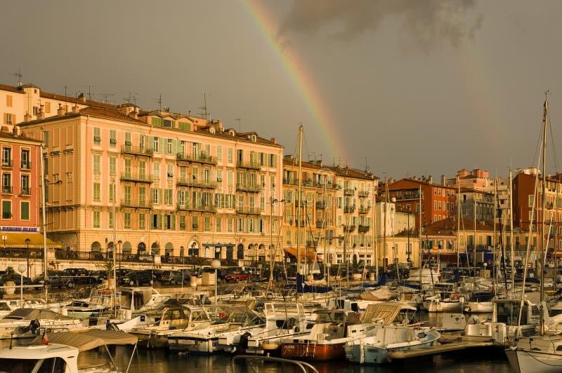 Port de Nice après la tempête photos libres de droits