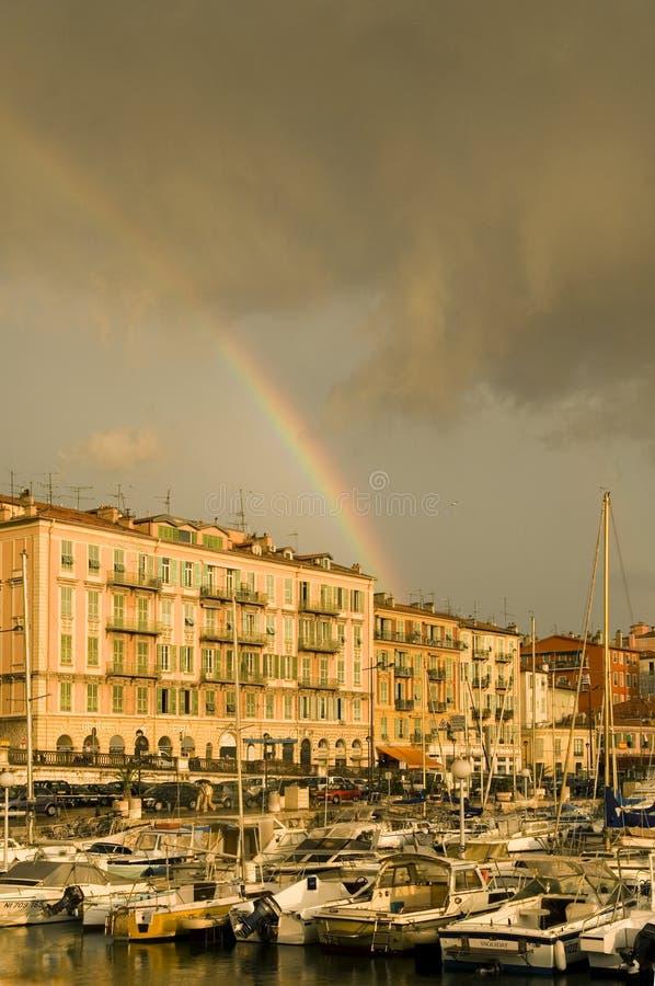 Port de Nice après la tempête images stock