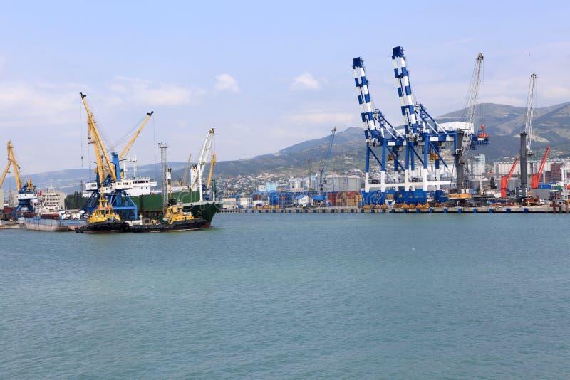 Port de Novorossiysk images libres de droits