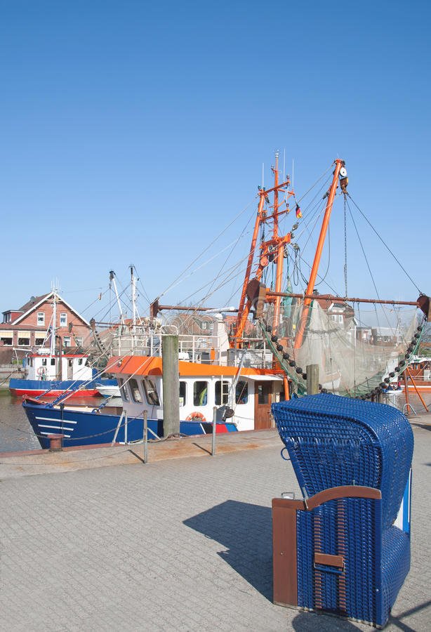 Neuharlingersiel, la Mer du Nord, Allemagne photographie stock libre de droits