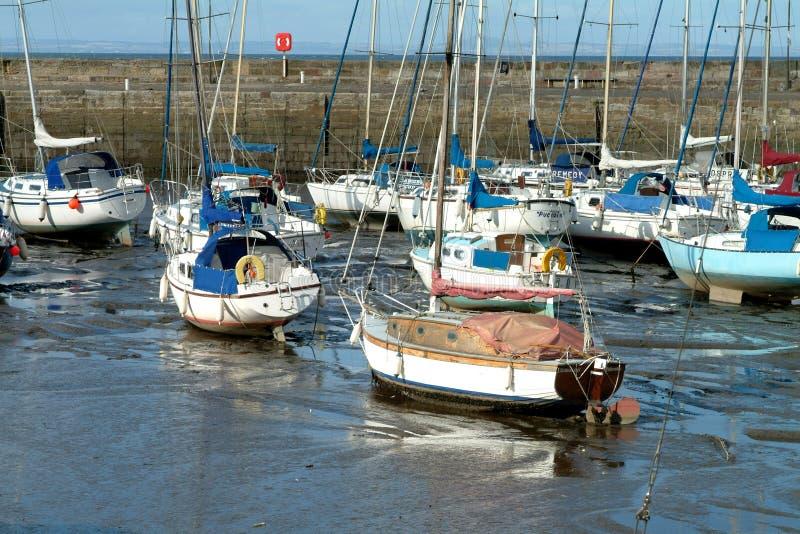 Port de pêche - Edimbourg, Ecosse photos libres de droits