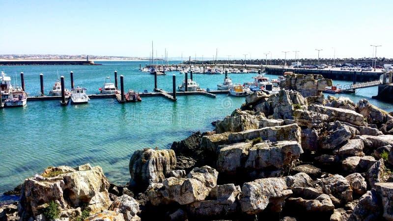 Port de Peniche images libres de droits