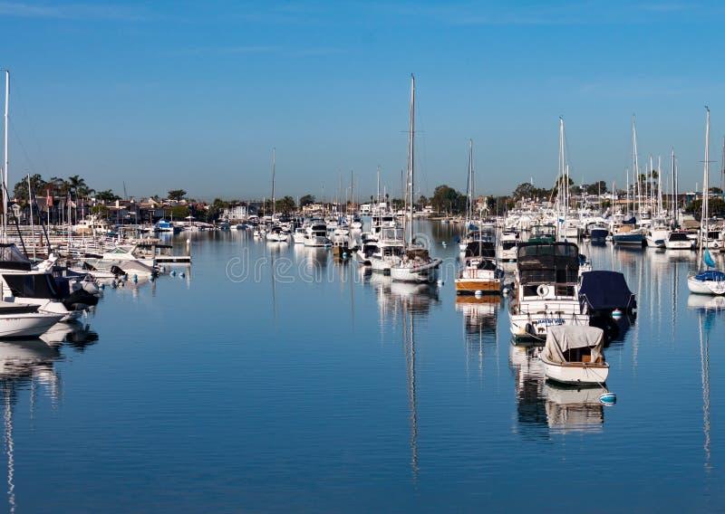 Port de plage de Newport, la Californie image stock