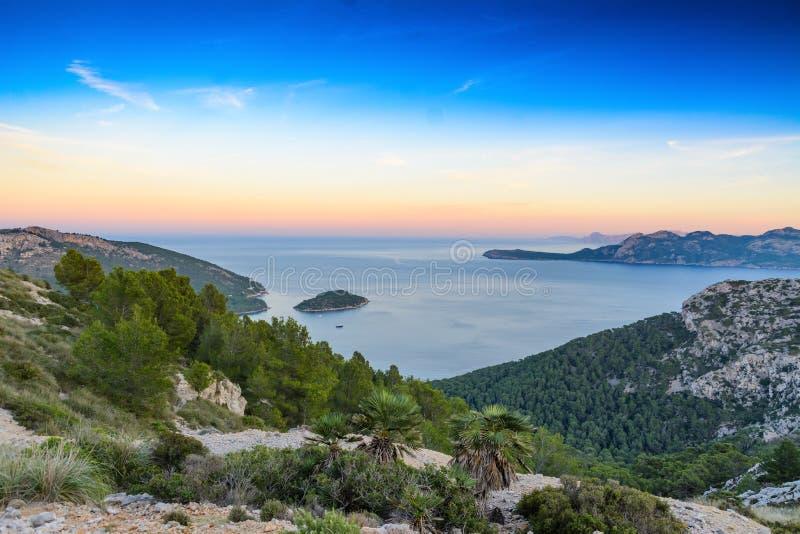 Port de Pollenca, Mallorca, Spanien royaltyfria foton