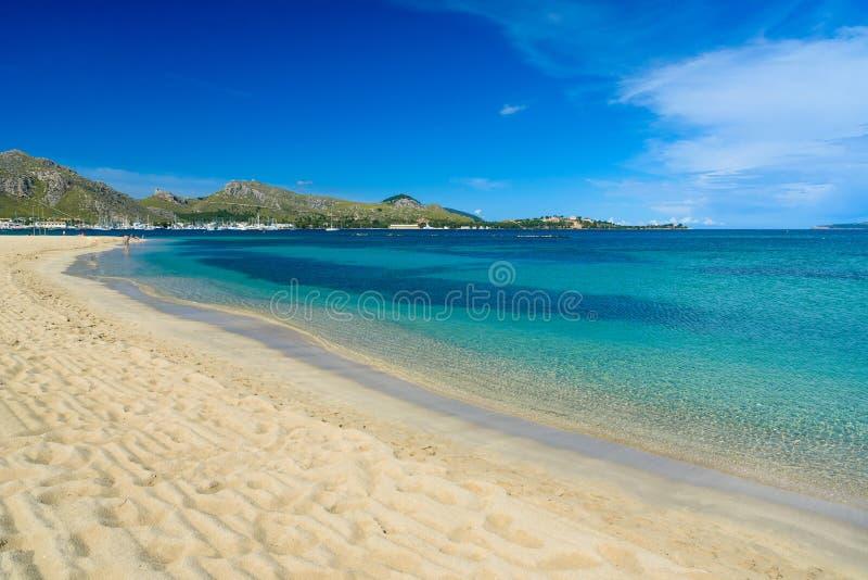 Port DE Pollenca - mooie strand en kust van Mallorca, Spanje royalty-vrije stock foto's