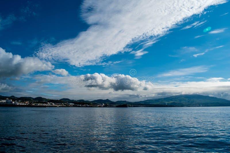 Port de Ponta Delgada, Açores, Portugal, mars 2019 images libres de droits