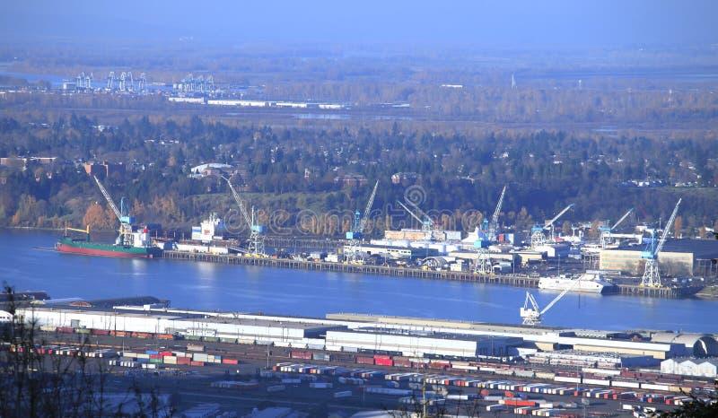 Port de Portland Orégon. photos stock
