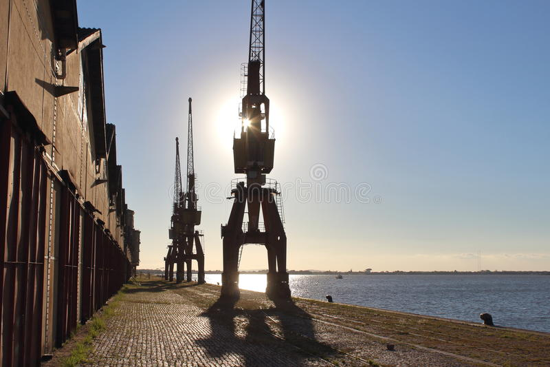 Port de Porto Alegre, Brésil photos libres de droits
