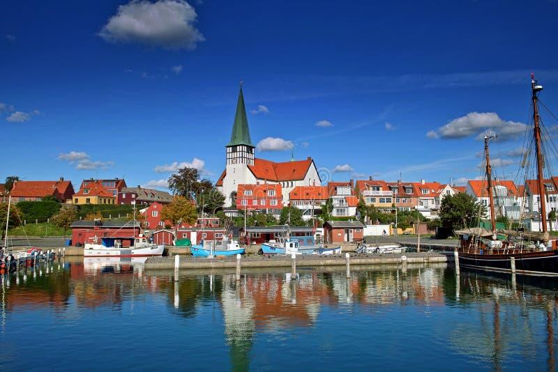 Port de Roenne sur Bornholm images libres de droits