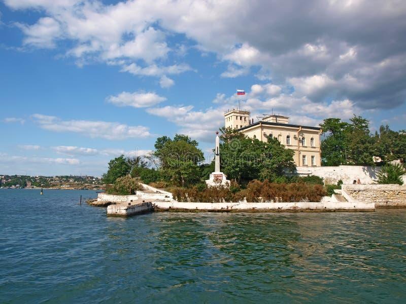 Port de Sébastopol. Vue de la mer photos stock