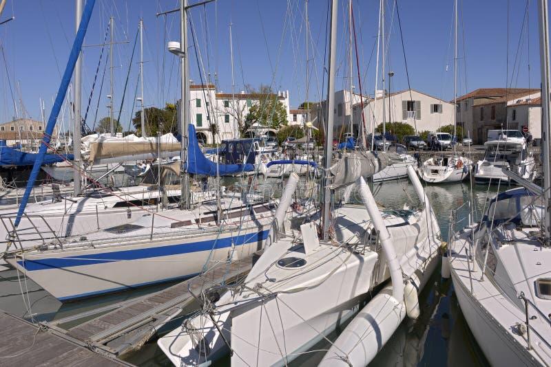Port de Saint-Martin-De-Ré photographie stock