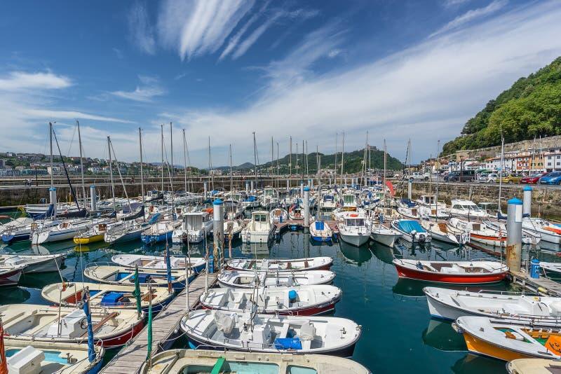 Port de San Sebastian images libres de droits