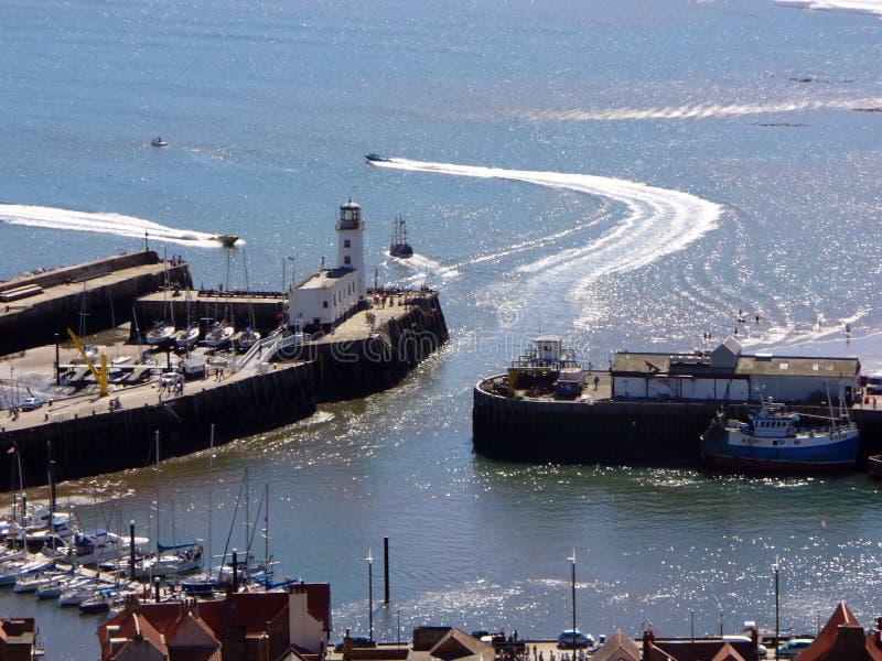 Port de Scarborough scénique photos stock