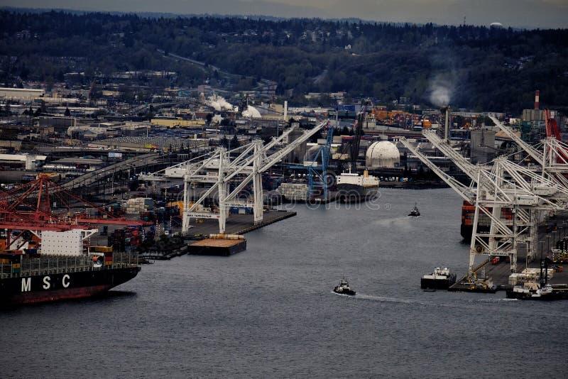 Port de Seattle images libres de droits
